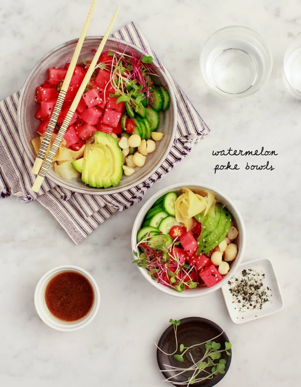 Vegan Poke Bowls are a tasty summer dinner you can have on the go.