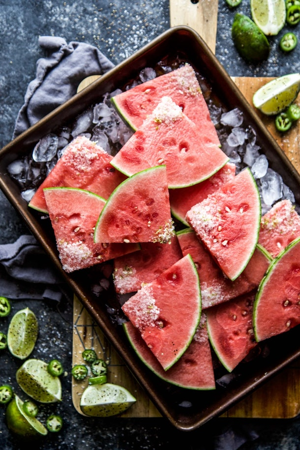 Jalapeno Watermelon Slices is one tasty recipe to use up your watermelon.