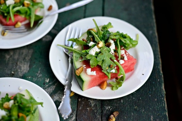 Watermelon Wedge Salad is one simple and tasty recipe to use up your watermelon.