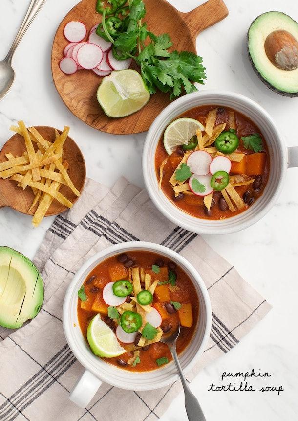 Pumpkin Tortilla Soup