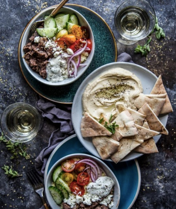 make slow cooker gyro bowls on a school night