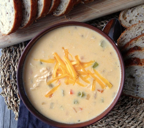 Cheddar & Ale Chicken Chowder is a delicious slow-cooker recipe for back to school nights