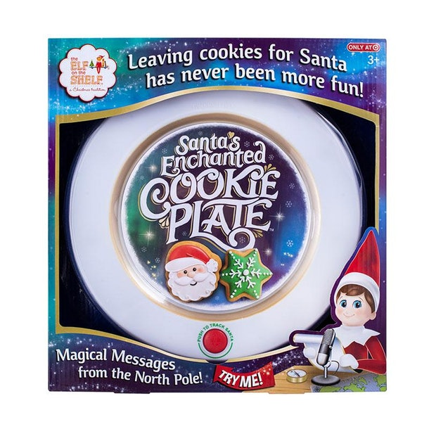 Elf On The Shelf Santa's Enchanted Cookie Plate