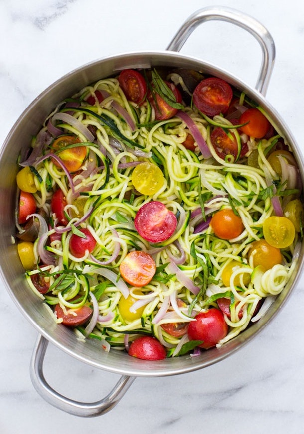 One-Pot Zucchini Pasta is one easy recipe for breastfeeding moms.