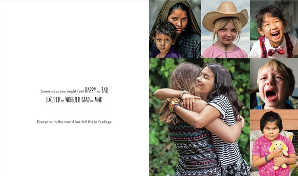 Photographs in 'A World Together' depict children from all around the world experiencing different emotions to help showcase diversity.