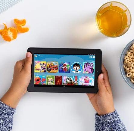 amazon kids and amazon kids+ on amazon tablet