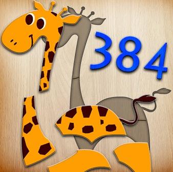 app icon for 384 Puzzles for Preschool Kids - giraffe puzzle