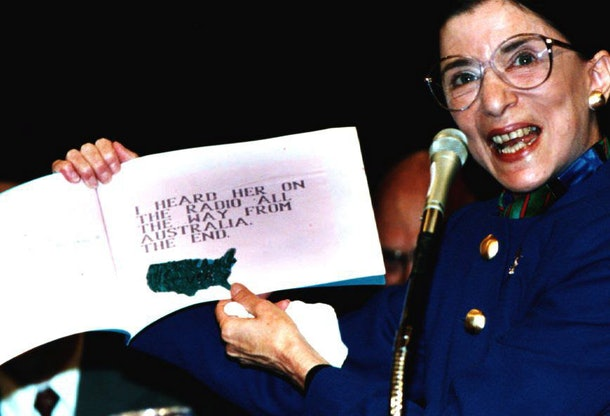 """In July, 1993, RBG displays a book titled """"My Grandma is Very Special"""", which was written by Paul Spera, her grandson."""