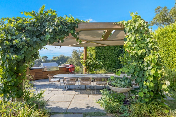 Chrissy Teigen's outdoor dining area.