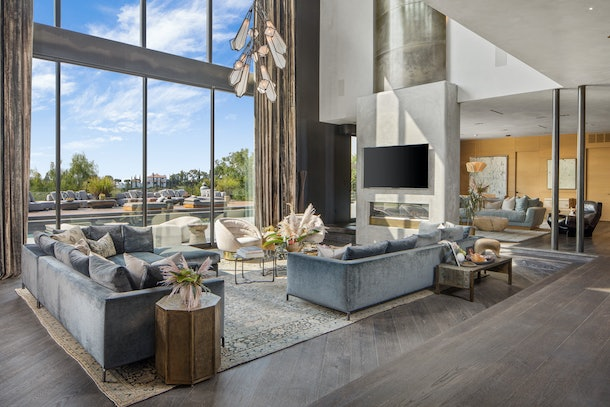 Chrissy Teigen's living room.