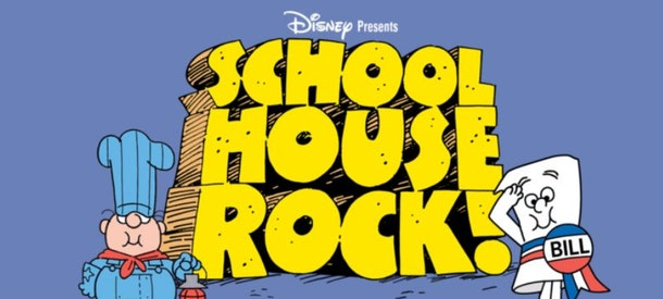 School House Rock! is the classic educational cartoon from the 1970s