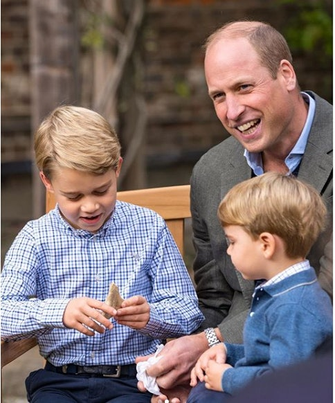 Prince George is a big fan of natural subjects like volcanoes.