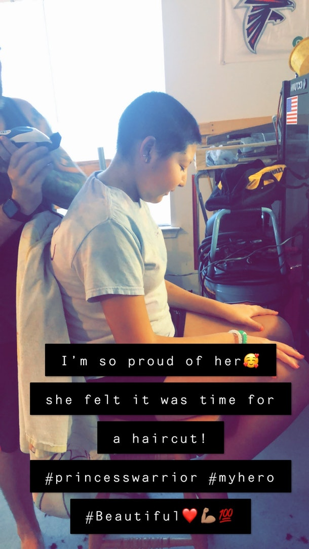 Dani Cuevas had a milestone moment with her hair during chemotherapy.
