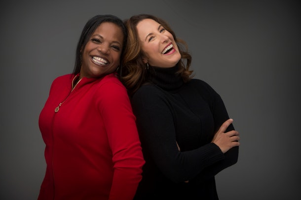 'Tiny Imperfections' authors Asha Youmans (left) and Alli Frank (right).