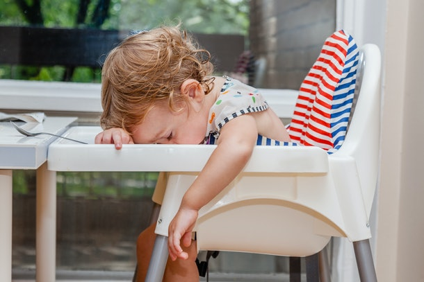 Sometimes the reason a baby falls asleep during a meal is simple: they're just exhausted.