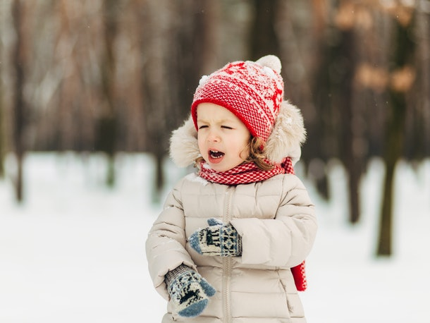 Enjoying cold weather is fine as long as your toddler's bundled up, experts say.