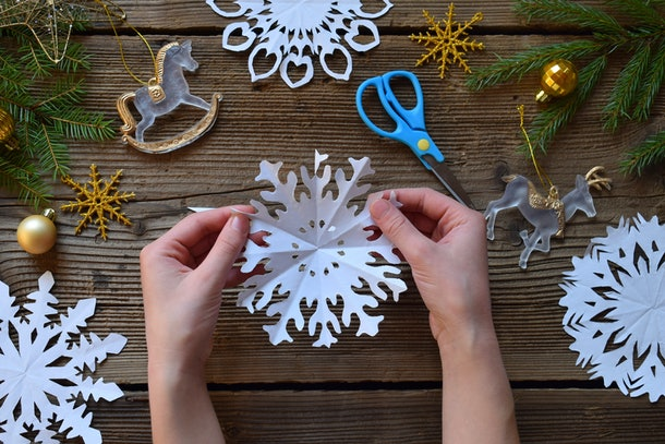 You can also make paper snowflakes to help celebrate the Winter Solstice.