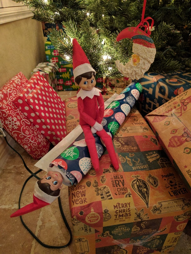 Our elves picked on each other a lot.