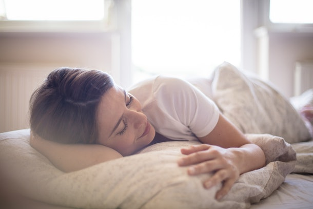 There's nothing better than a lie in. Woman sleeping in bed.