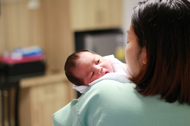 Newborn and mom.This is the time where women need care & compassion.