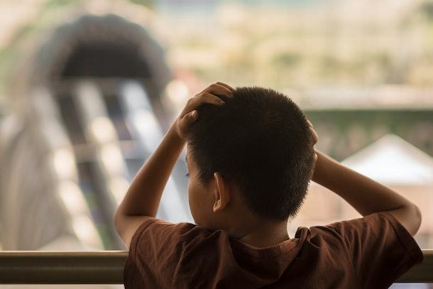Children is thinking.