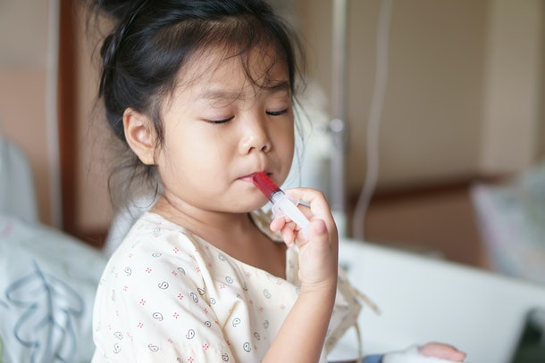 Doctors recommend over-the-counter fever reducers for keeping kids with the flu comfortable.