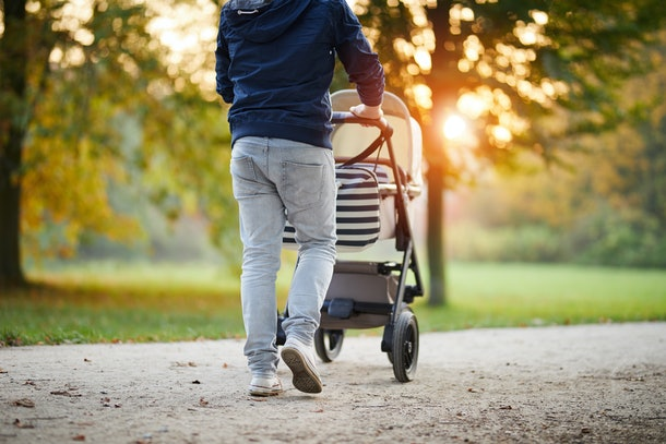 Dads can really help by taking baby for a walk while mom gets a rest from all the feeding.