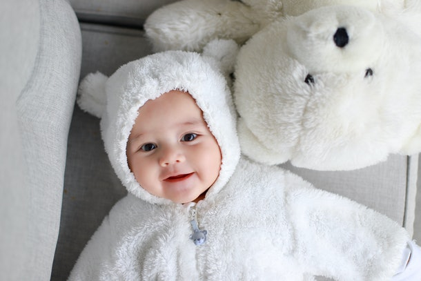 baby in a bear costume